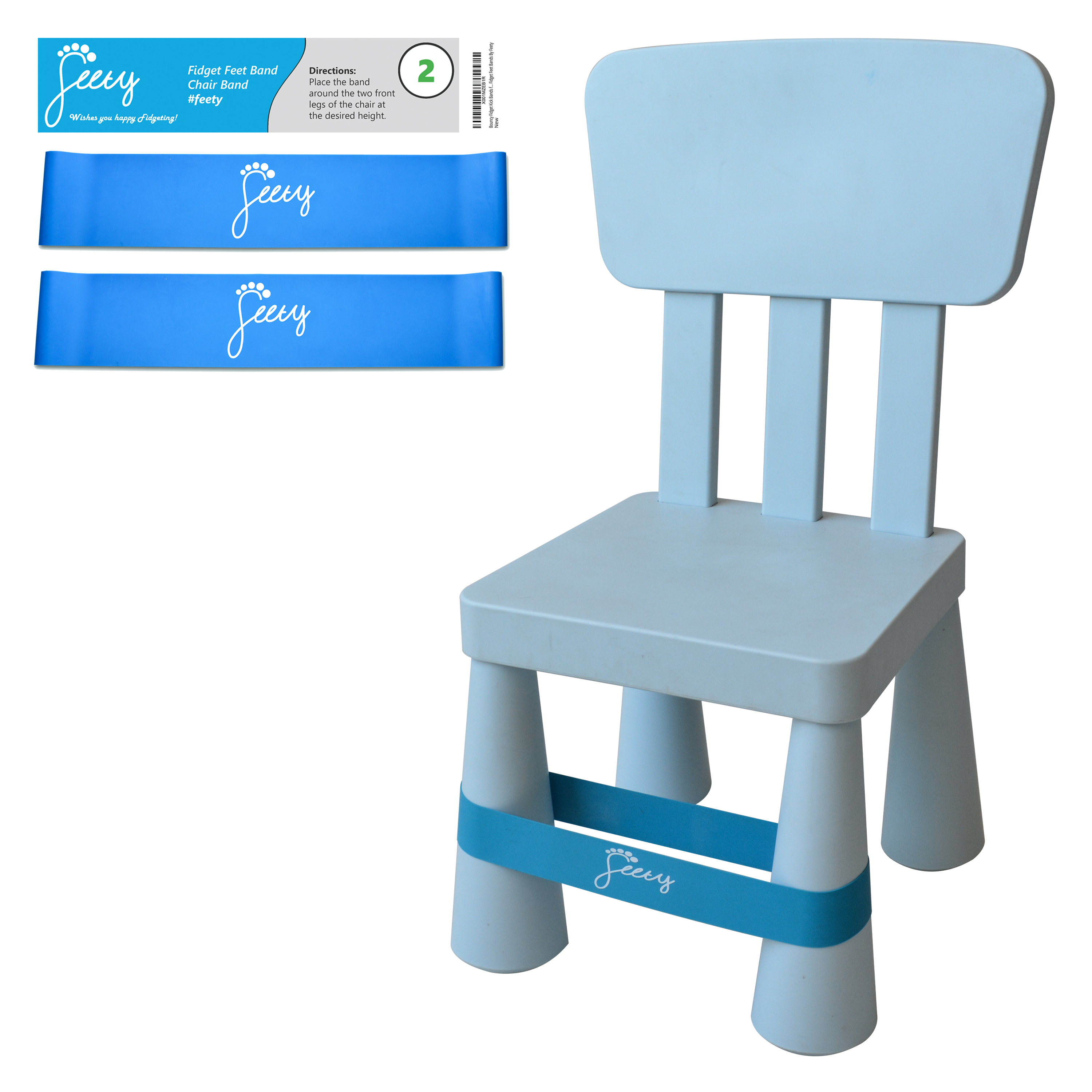 Chair Bands For Adhd Kids 2 Pack Set Super School